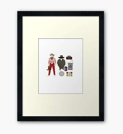 Back to the Future : Time Traveler Essentials 1885 Framed Print