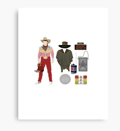 Back to the Future : Time Traveler Essentials 1885 Canvas Print