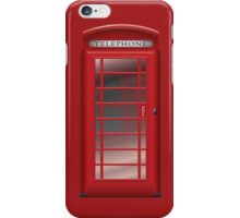 London Red Phone Phone Booth Box  iPhone Case/Skin