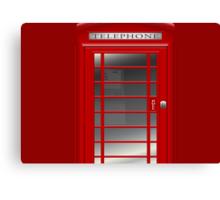 London Red Phone Phone Booth Box  Canvas Print