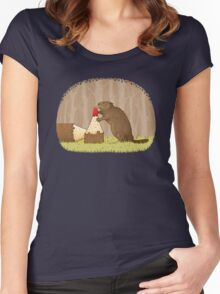 The Beaver And The Color In The Forest Women's Fitted Scoop T-Shirt