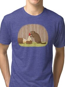 The Beaver And The Color In The Forest Tri-blend T-Shirt