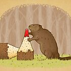The Beaver And The Color In The Forest by crabro
