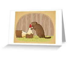 The Beaver And The Color In The Forest Greeting Card