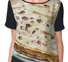 Stack of thin fine pancakes Chiffon Top