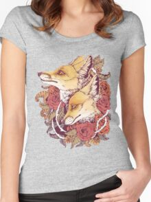 Red Fox Bloom Women's Fitted Scoop T-Shirt