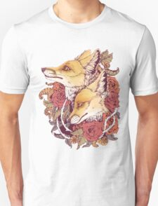 Red Fox Bloom Unisex T-Shirt