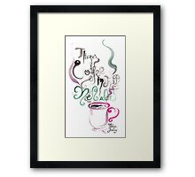 There's Coffee In That Nebula Framed Print