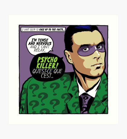 Post-Punk Psycho Art Print