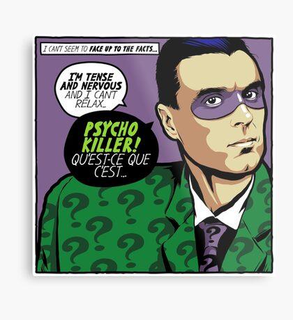 Post-Punk Psycho Metal Print