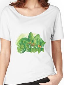 Tropical Jungle Plants Illustration Women's Relaxed Fit T-Shirt