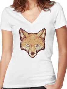 Vintage Fox Women's Fitted V-Neck T-Shirt