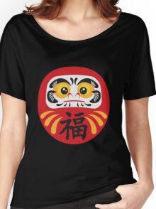 Japanese Daruma Doll Illustration Women's Relaxed Fit T-Shirt