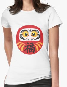 Japanese Daruma Doll Illustration Womens Fitted T-Shirt