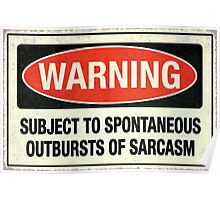 Subject to sarcasm Poster