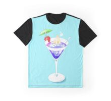 Polar Bear in Cocktail Graphic T-Shirt