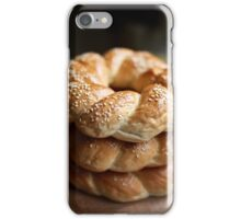 Stack of bagels iPhone Case/Skin