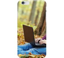 Businessman working outdoors iPhone Case/Skin