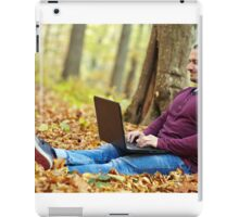 Businessman working outdoors iPad Case/Skin