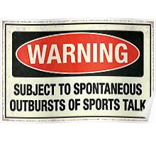 Subject to sports talk Poster