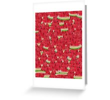 Water, Watermelon Greeting Card