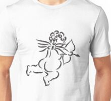 Cupid with Bow and Arrow Ink Brush Illustration Unisex T-Shirt