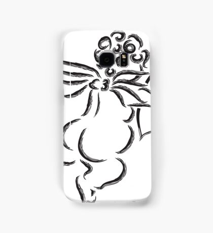 Cupid with Bow and Arrow Ink Brush Illustration Samsung Galaxy Case/Skin