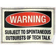 Subject to tech talk Poster