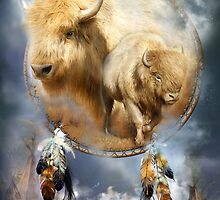Dream Catcher - Spirit Of The White Buffalo by Carol  Cavalaris