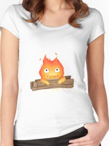 Comfy Calcifer Women's Fitted Scoop T-Shirt