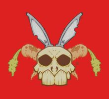 Old Rabbit Skull One Piece - Short Sleeve