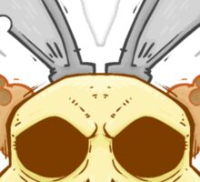 Old Rabbit Skull Sticker