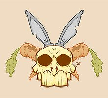 Old Rabbit Skull by crabro