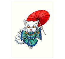 Chibi Kitsune Art Print