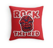 Rock the Red! Literally! Throw Pillow
