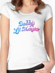 Daddy's Lil Monster Funny Cosplay Costume for Movie Fans Women's Fitted Scoop T-Shirt