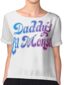 Daddy's Lil Monster Funny Cosplay Costume for Movie Fans Chiffon Top