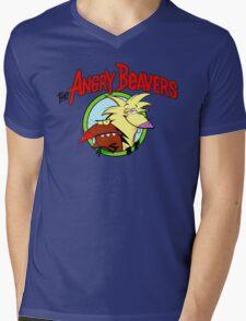 Angry Beavers Mens V-Neck T-Shirt