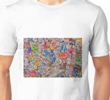 bale of recycled aluminum cans- a study in flattening Unisex T-Shirt
