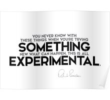 this is all experimental - richard branson Poster