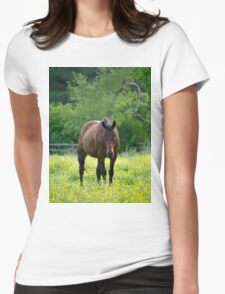 A Brown Horse Womens Fitted T-Shirt