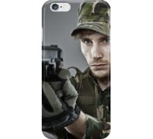 Military guy shooting iPhone Case/Skin