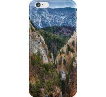 Canyon and mountain range iPhone Case/Skin