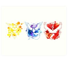 Pokemon GO Teams Watercolour Art Print