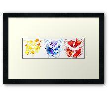 Pokemon GO Teams Watercolour Framed Print