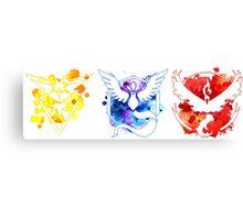 Pokemon GO Teams Watercolour Canvas Print