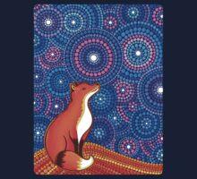 Star Gazing Fox Kids Tee