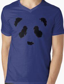 Rorschach Panda Mens V-Neck T-Shirt