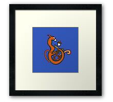 Medieval Squirrel letter B Framed Print