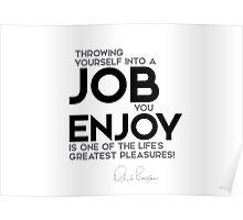 throwing yourself into a job you enjoy - richard branson Poster